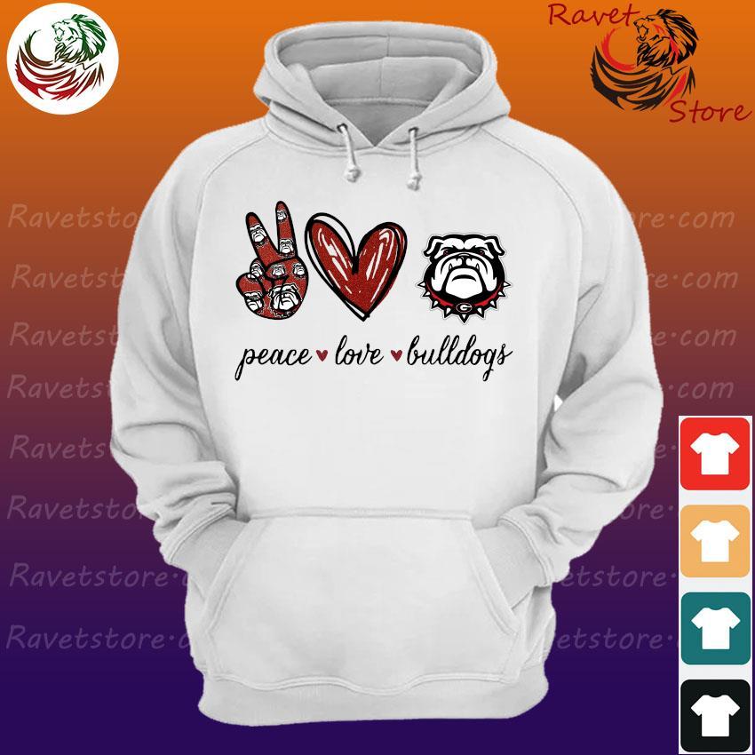 Peace Love Georgia Bulldogs football s Hoodie