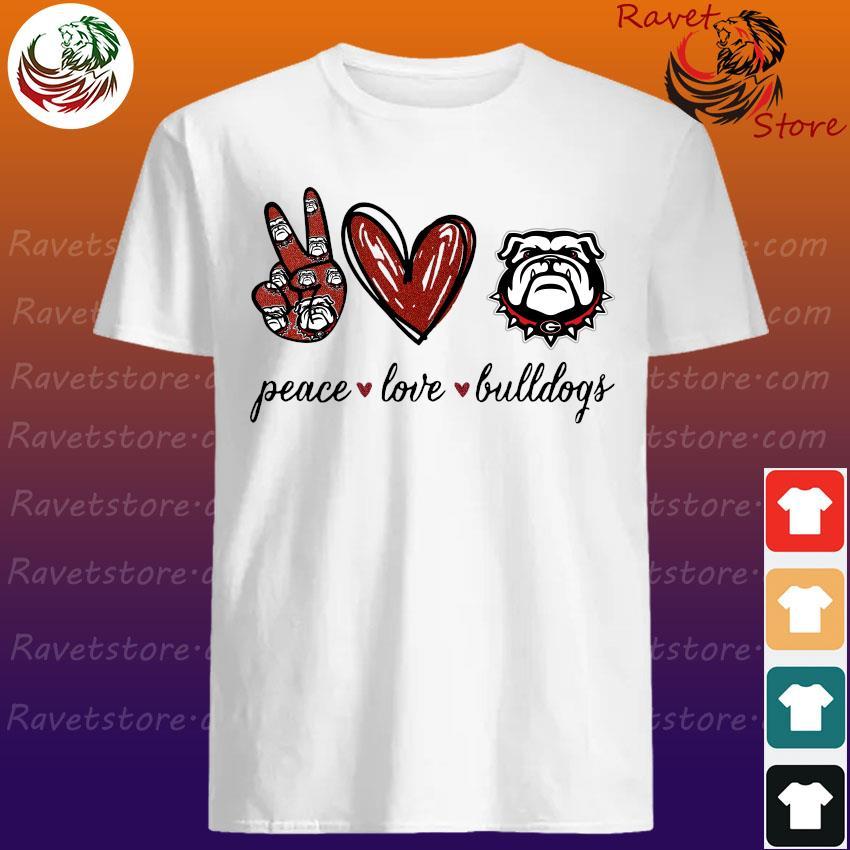 Peace Love Georgia Bulldogs football shirt