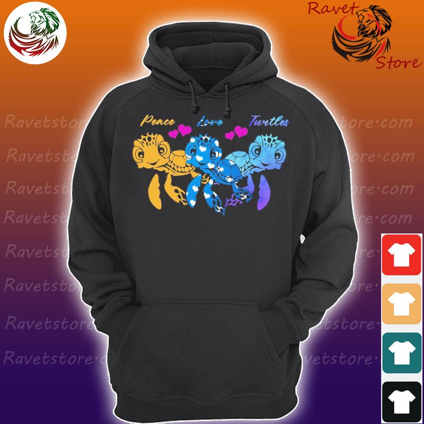 Peace Love Turtles diamond s Hoodie