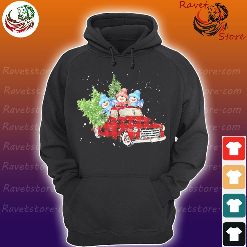 Penguin On Red Plaid Truck Merry Christmas s Hoodie