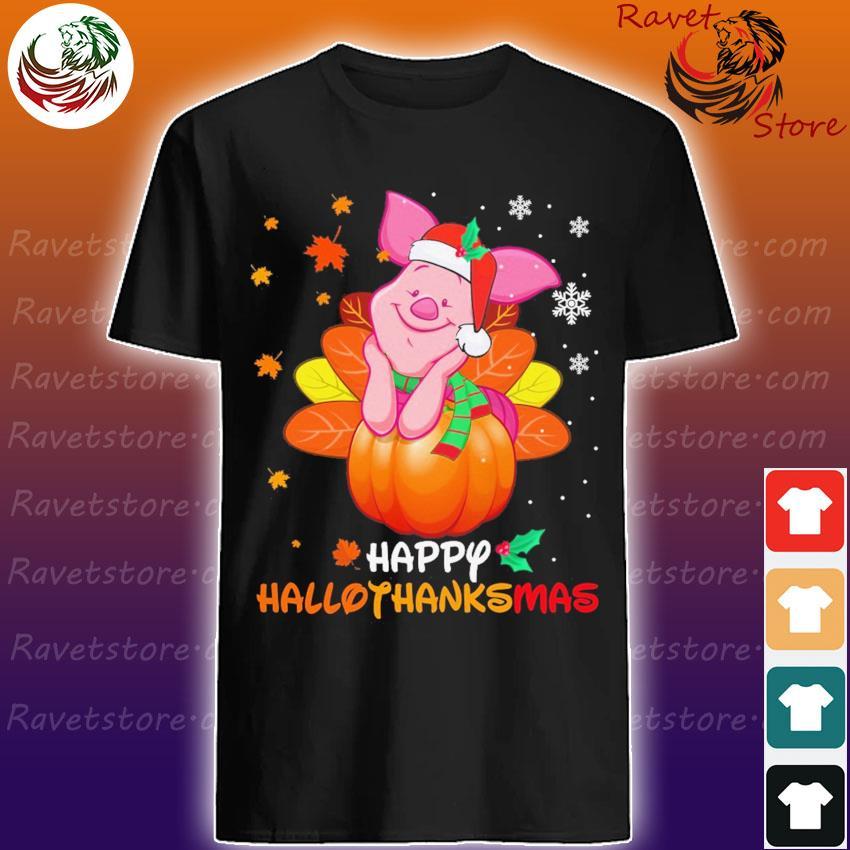 Piglet Santa Happy Hallothanksmas shirt