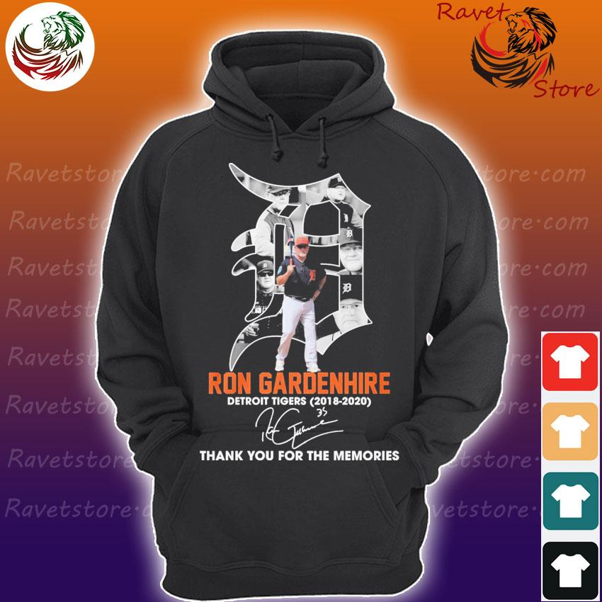Ron Gardenhire Detroit Tigers 2018 2020 thank you for the memories signature s Hoodie