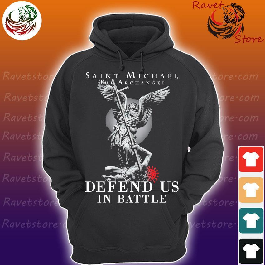 Saint Michael the Archangel Defend ú in Battle s Hoodie