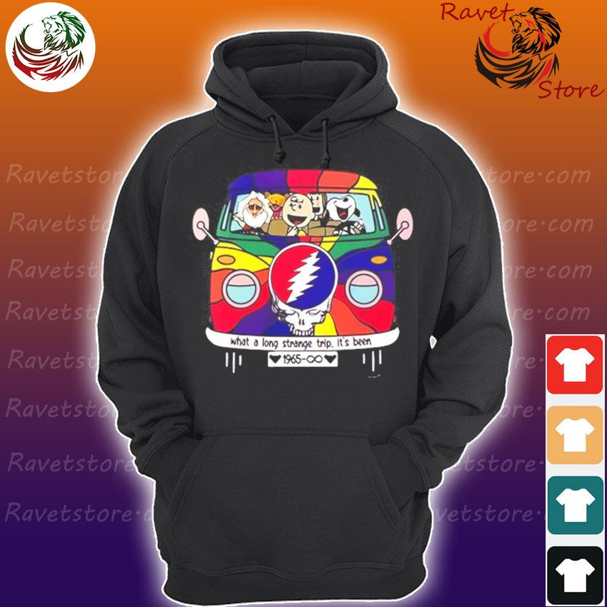 Snoopy and Charlie Brown Grateful Dead what a long strange trip It's been 1965 s Hoodie