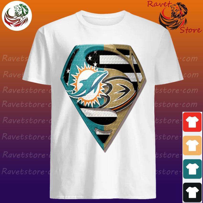 Superman Miami Dolphins vs Anaheim Ducks 2020 shirt