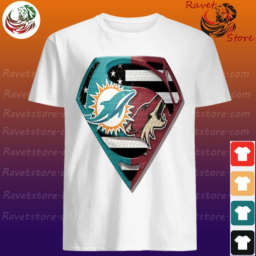 Superman Miami Dolphins vs Arizona Coyotes 2020 shirt