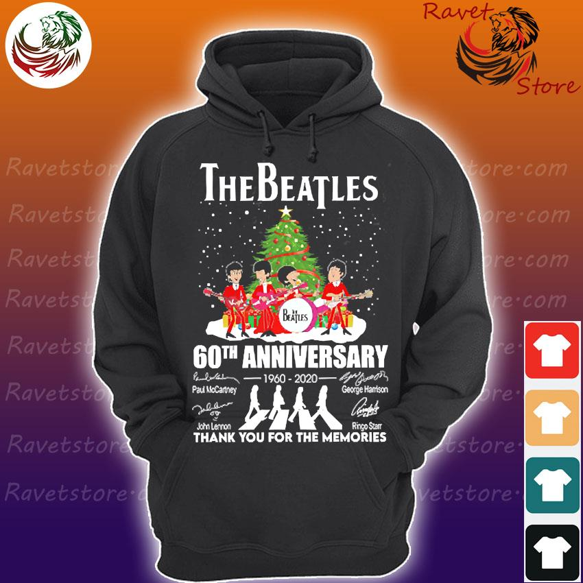 The Beatles 60th anniversary 1960 2020 thank You for the memories signatures christmas s Hoodie