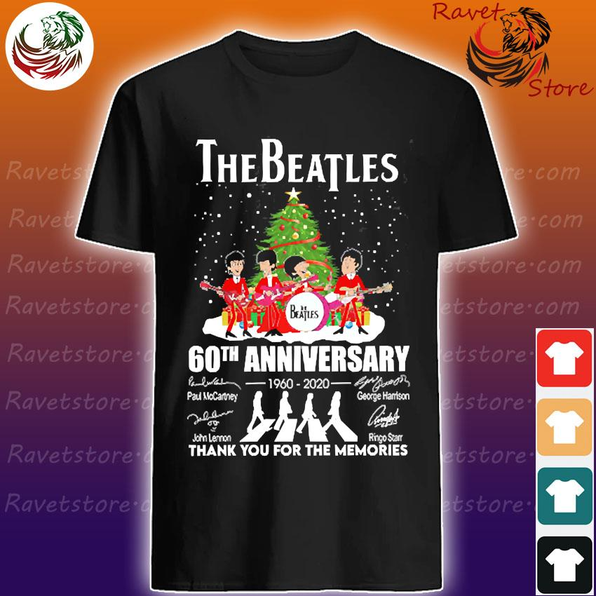 The Beatles 60th anniversary 1960 2020 thank You for the memories signatures christmas shirt