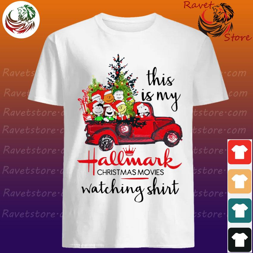 The Peanuts this is My Hallmark Christmas movies Watching shirt