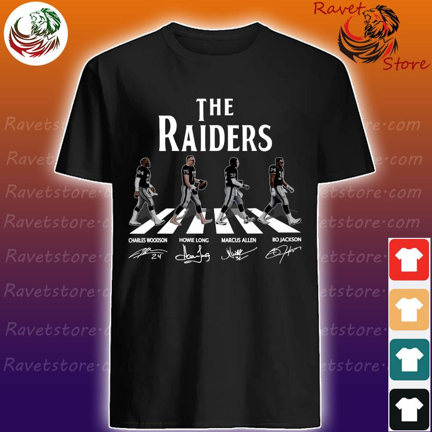 The raiders Bo Jackson Tim Brown Marcus Allen Charles Woodson signature shirt