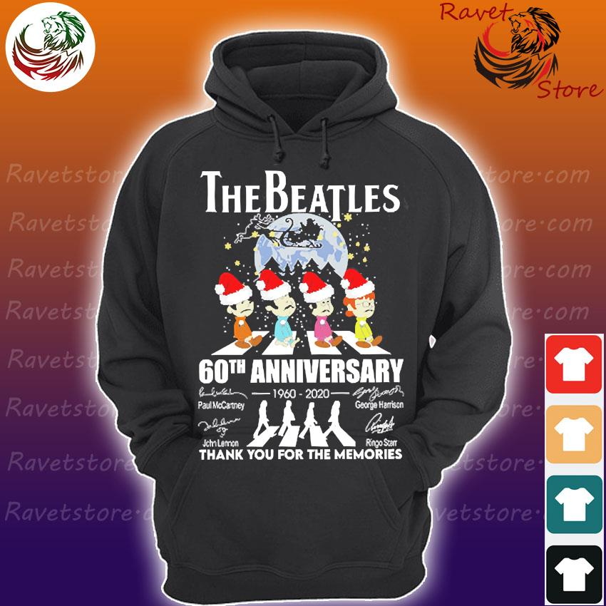 The Santa Beatles 60th anniversary 1960 2020 thank You for the memories signatures christmas s Hoodie