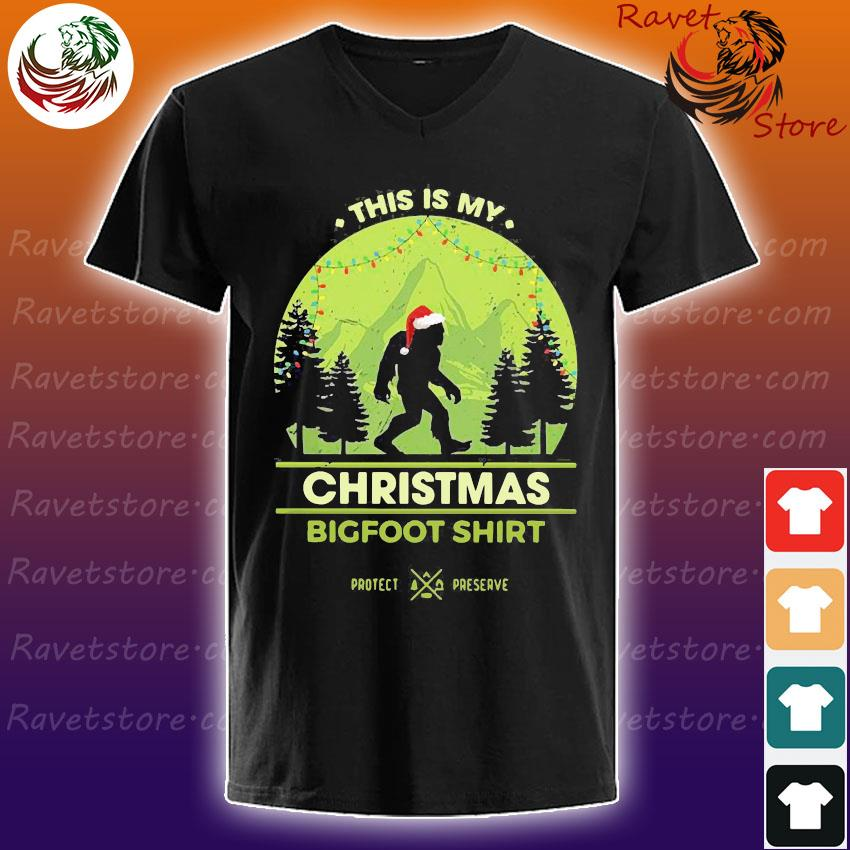 This is my christmas bigfoot s V-Neck