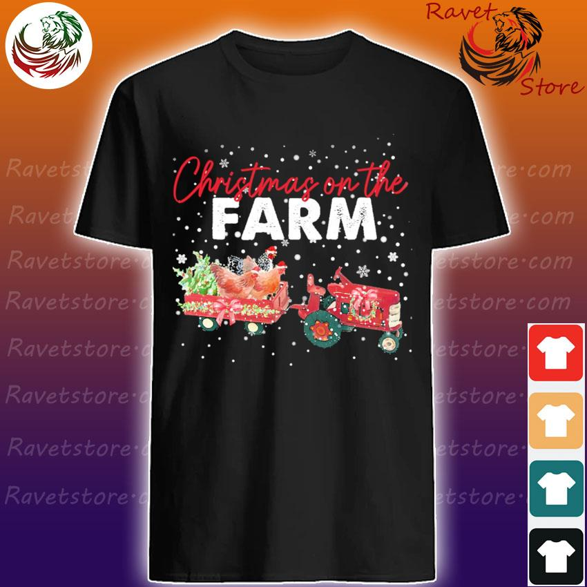 Truck Chickens Christmas on the Farm shirt