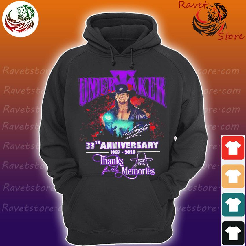 Undertaker 33th anniversary 1987 2020 thanks for the memories signature s Hoodie