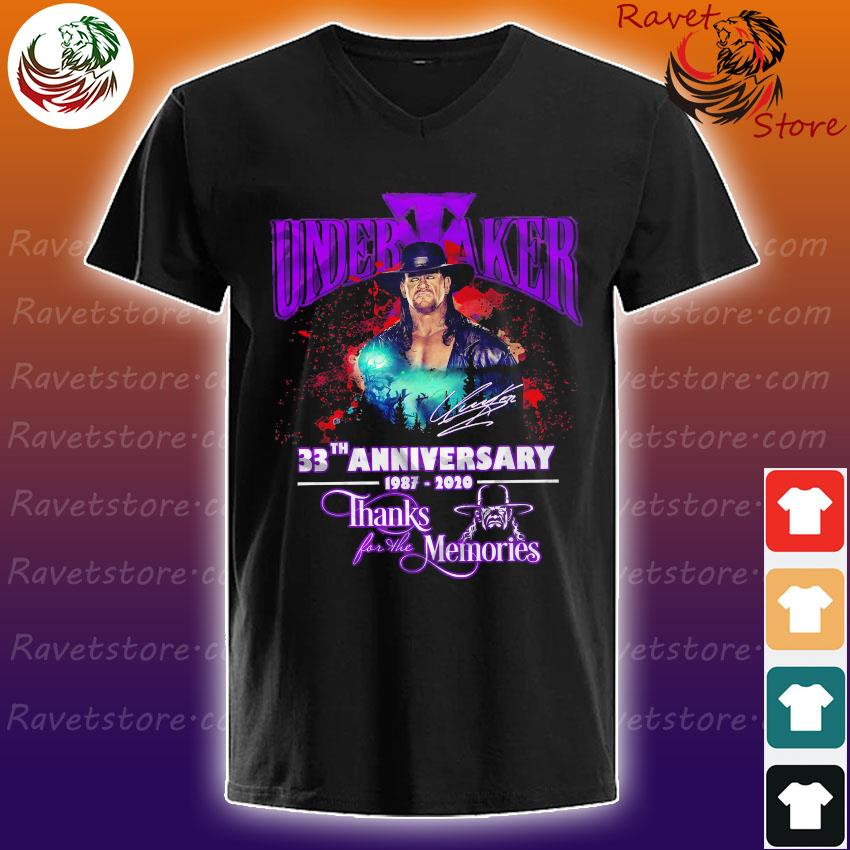 Undertaker 33th anniversary 1987 2020 thanks for the memories signature s V-Neck