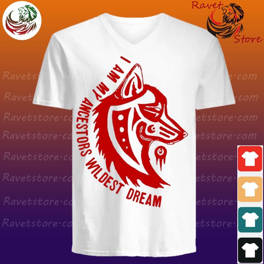 Wolf I am My ancestors wildest dream red s V-Neck